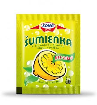 Šumienka s citrónovou arómou bez cukru