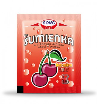 Sherbet with cherry aroma sugar free