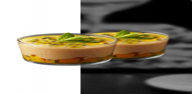 Ovocný pohár s mangovou penou